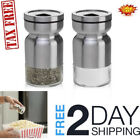 Salt and Pepper Shakers Set with Adjustable Pour Holes Stainless Steel