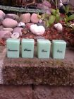 Green Jadite  Spice Jars set of 4