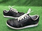 Mens Ashworth Black Red Leather Golf Shoes 85 M Spikeless Sneakers Fast Ship
