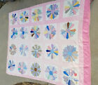 VTG* 30's/40's* Dresden quilt* cotton* feedsac* cutter/loved/as is* 84