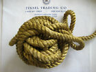 Vintage Antique French Gold Metallic Rope Cord Trim 3/8