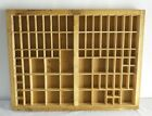 Type Set Drawer Tray Shadow Box Wooden 17 x 22 Thompson Printers Cabinet IT6