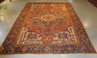 Antique Persian Heriz Serapi rug estate lovely Amazing carpet 9 x 12 distressed