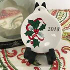 Fiestaware Holly and Ribbon Ornament Fiesta 2018 Christmas Holiday Ornie NEW