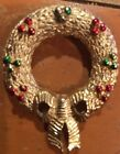 Gerrys Brooch Fabulous Christmas Wreath Vintage Costume Jewelry Pin
