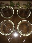 4 Vintage Fire King #425 Clear Glass Custard Cups with Scalloped Rim 10 oz