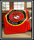 Soft  Plush US Marine Corps Blanket Throw  Great Gift Idea Semper Fi