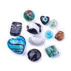 500g Bag Mixed Handmade Lampwork Glass Charms Loose Spacer Beads Jewelry Finding