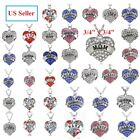 Crystal Heart Charm Pendant Necklace Chain Mom Daughter Best Friend Hope Jewelry