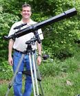 New Black 90mm Refractor Telescope w Tripod and Mount NO RESERVE AUCTION