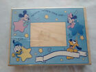 LARGE RUBBER WOOD STAMP DISNEY BABIES MICKEY TWINKLE TWINKLE STAR FRAME A1983R