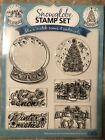 SNOW GLOBE CLEAR UNMOUNTED STAMPS SET OF 6 QUICK CARDS Brand