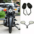 Chrome Matte Black Rearview Mirrors For Harley Dyna Electra Glide Motorcycle