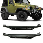 For 1986 2006 Jeep TJ YJ Black Textured Armor Running Boards Nerf Bars Side Step