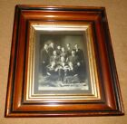 VINTAGE DEEP WELL GILDED WOOD PICTURE FRAME WITH FAMILY PHOTOGRAPH 13