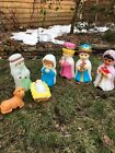 Empire Child Nativity Set Mary Joseph Jesus 3 wise Men Blow mold for kids
