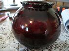 VTG. SMALL (FISH  BOWL TYPE) RED GLASS BOWL-PERFECT