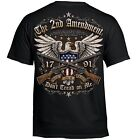 T Shirt Bike 2nd Amendment Rider Biker Tattoo Skull Motorcycle no Harley