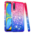 Diamond Quicksand Bling Shining Soft Phone Case Cover For Samsung S9 A7 J6 Plus