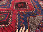 4x6 RED BLUE HAND KNOTTED PERSIAN RUG WOOL foundation oriental rugs runner 3x6
