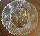 FOUR -- Federal Clear Glass (Pioneer) Fruit Embossed-Scalloped Edged Bowls-EUC