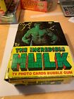 THE INCREDIBLE HULK TV PHOTO CARDS BUBBLE GUM - Topps - 36 Packs - Full Box