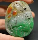 Exquisite Chinese old jade hand carved fish lucky Pendant   a44