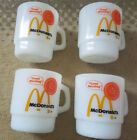 McDonalds Fire King Mugs Lot of 4 Preowned Good Used Condition