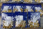 Wedding Party Anniversary Favor Tie Ons Gold Bells decoration 4 pack