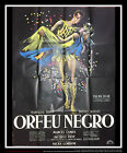 BLACK ORPHEUS Marcel Camus 4x6 ft French Grande Movie Original Poster 1959