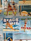 Beachball Volleyball Sports print fabric Cotton Material BTY Why 700