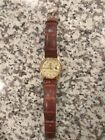 Rolex president day date solid 18k gold crocodile band men's diamond face