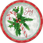 Candy Cane Xmas 9 Plates 8 Count