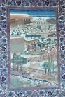 GENUINE ANTIQUE PERSIAN KESHAN RUG TREE OF LIFE AND NATURE SCENE