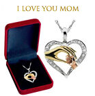 Mothers Day Gift 925 Sterling Silver Heart Pendant Necklace New MOM Best Gift