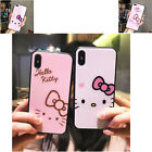 T Mobile Cases Cute Cartoon Hello Kitty Glass Hard Cover For iPhone X XR XS MAX