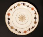 Vintage Coalport England Rust Blue and Gold Saucer Plate