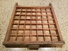 Vintage Wooden Wood Short Hamilton Type Set Printers Drawer Tray Shadow Box!