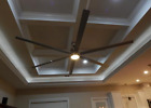 10 ft ceiling fan LED LIGHT industrial modern shop BIG HUGE ASS BIGASS 120 inch