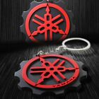 3D Soft ABS Rubber Motorcycle Keychain Key Chain Fob Ring Logo Yamaha Black/Red