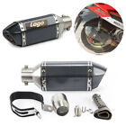 Black Universal Moped Scooter Exhaust Muffler Pipe + Removable DB Silencer Can