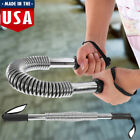 Power Twister Strength Training Arm Chest Bar Spring Exercise Fitness Silver