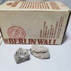 The Berlin Wall Authentic German Artifact Cut From the Wall 2 Pieces