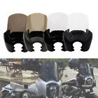 Black Front Fairing Clear/Smoke 15'' Windshield For Harley Dyna Super Wide Glide
