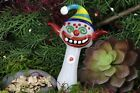 5 Collectible Crazy Clown Glass TOBACCO Smoking Hand Pipe by Blowfish Glass