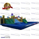 Commercial Inflatable Large Water Park Aqua Bounce With Slides  Pool 92x33ft