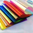52 Clear Holographic Iridescent PVC Fabric Mirrored Film Vinyl Crafts Bows Bag