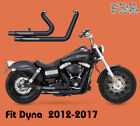 Fit Harley Dyna 2012 2017 Low Rider FXDL Dual Pipes Muffler Exhaust Kit M1