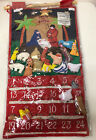 NIP Almas Designs Nativity Fabric Advent Calendar Countdown to Christmas