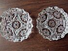Ashtrays Two Star of David Early American Prescut 4-1/4